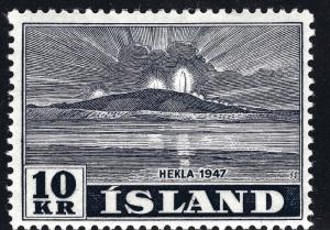 Iceland Hekla Volcano Issue Scott #252 F-VF MH Cat $75