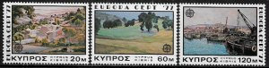Cyprus #475-7 MNH Set - Europa - Paintings