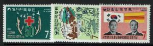 Korea SC# 654-656, Mint Never Hinged -  Lot 010117