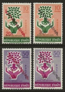 Haiti 1960 WRY Alphabetisation Set #B14-B17 VF-NH