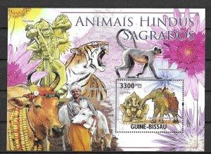 Guinea-Bissau MNH S/S Animals Fauna 2010