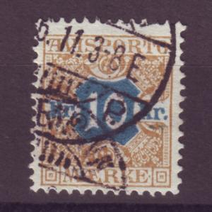 J16648 JLstamps 1907 denmark perf 13 used #p10 newspaper stamp $45.00 scv