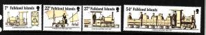 Falkland Is.-Sc#416-19-unused NH set-Trains-Camber Railway-1