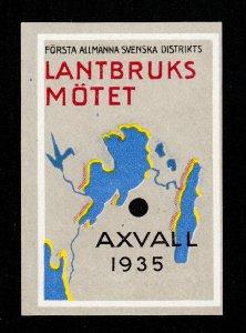 SWEDEN AXVALL FØRSTA ALLMÄNNA SVENSKA DISTRIKTS LANTBRUKS MÖTET 1935
