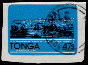 TONGA QEII SG800, 47s map of Ha'apal group, FINE USED. ON PIECE