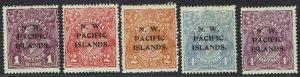 NWPI NEW GUINEA 1918 KGV SET