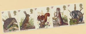 Great Britain Scott #816 To 820, Wildlife Protection Issue From 1977 - Free U...