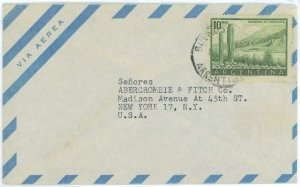 aa3059  - ARGENTINA - POSTAL HISTORY -  AIRMAIL COVER to the USA