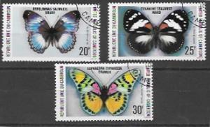 Set of 3 stamps - 644 - 646 featuring Beautiful Butterflies