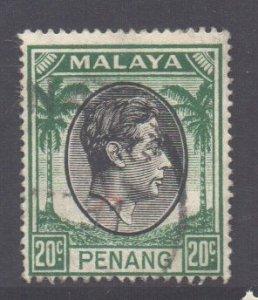 Malaya Penang Scott 14 - SG14, 1949 George VI 20c used