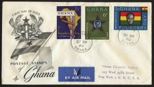 wc049 Ghana Founder's Day 1960 FDC first day cover