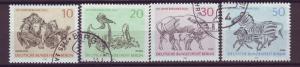 J20716 Jlstamps 1969 berlin germany set used #9n275a-d wildlife