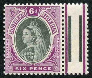 Southern Nigeria SG5 6d Black and Purple U/M Fine and Fresh