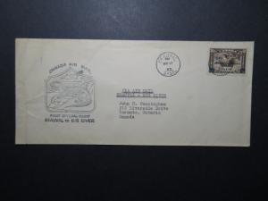Canada 1933 Beauval to Big River First Flight Cover - Z11260