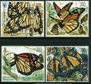 MEXICO 1559-1562, Monarch Butterflies, World Wildlife Fund MINT, NH. F-VF.