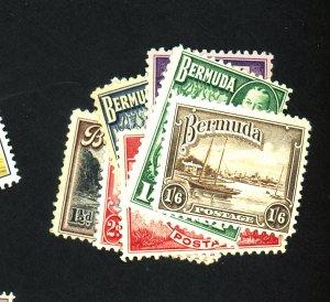 Bermuda #107 109A-114 MINT F-VF OG HR Cat $13