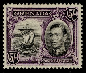 GRENADA GVI SG162, 5s black & violet, LH MINT. Cat £11.