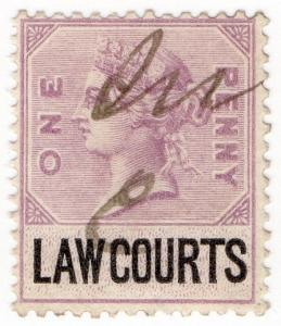 (I.B) QV Revenue : Law Courts (Scotland) 1d (1882)