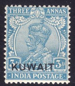 1923 - 1924 Kuwait KGV 3 Anna issue MNH Sc# 7 Wmk 39 CV $19.00
