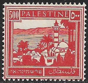 PALESTINE 1927-42 500m Red Tiberias and Sea of Galilee Pictorial Sc 83 MH