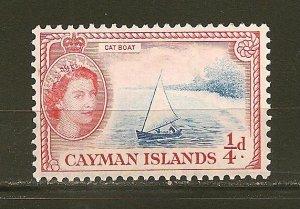 Cayman Islands 153 Catboat QEII MNH