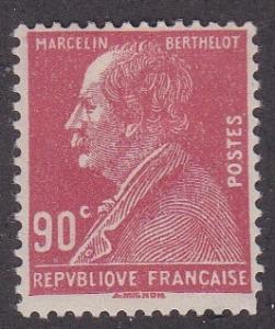 France #  242, Marcelin Berthelot - Chemist, Hinged, 1/4 Cat..