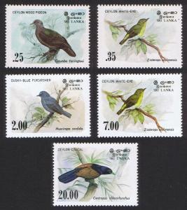 Sri Lanka Birds 5v SG#827-830 SC#691-694+877