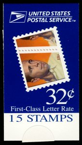 US #3152 BK267 MAKE-SHIFT BOOKLET, Humphrey Bogart, VF/XF mint never hinged, ...