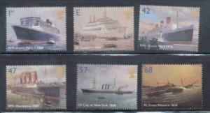 Great Britain Sc 2202-07 2004 Ocean Liners stamp set mint NH