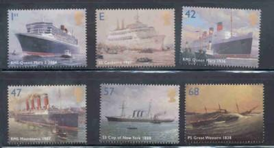 Great Britain Sc 2202-07 2004 Ocean Liners stamp set mint NH