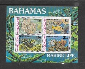 BAHAMAS #409a  MARINE LIFE  MNH