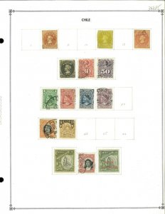 Chile 1853-1936 M & U Hinged on Scott International Blank Pages (2).