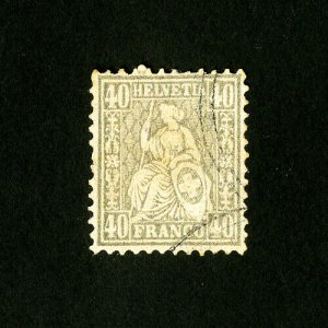 Switzerland Stamps # 66 F-VF Used Catalog Value $3,875.00