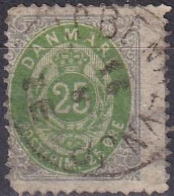 Denmark #32 F-VF Used CV $40.00 (A19306)