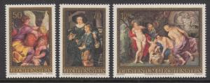 Liechtenstein 595-7 Rubens mnh
