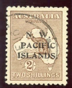New Guinea 1916 KGV Roos 2s brown (wmk inv - Type A) very fine used. SG 97w.