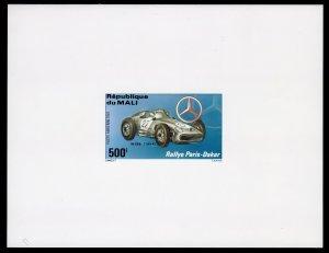 MALI 1983 Sc#C480/C482 PARIS-DAKAR MERCEDES BENZ 3 DELUXE S/S  IMPERFORATED MNH