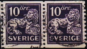 Sweden. 1920 10ore(Coil Pair) S.G.99A Fine Used