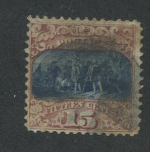 1869 US Stamp #119 15c type II Used F/VF Catalogue Value $200