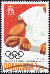 Dominica # 478 used ~ 1/2¢ Olympics – Rowing