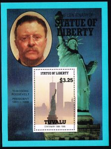UK STAMP TUVALU 1986 CENTENARY STATU OF LIBERTY MNH S/S STAMP COLLECTION LOT #8