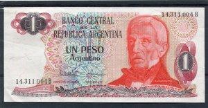 Argentina Banknote 1 Pesos General San Martin uncirculated