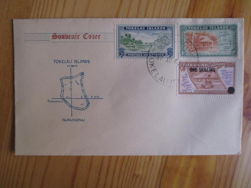 1963? Tokelau Souvenir Cover - Incl Overprint Scott # 5 (YY92)