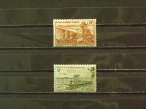 3844   French West Africa   MH # 28, 37       CV$ 0.80