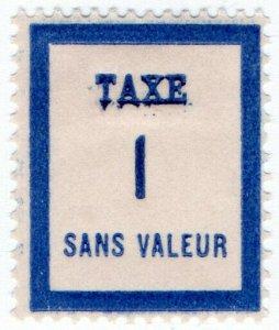 (I.B) France Cinderella : Postman's Training Stamp 1c (Postage Due)