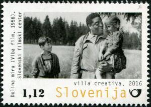 """Slovenia. 2016. Slovene Films - """"Valley of Peace"""" (MNH OG) Stamp"""
