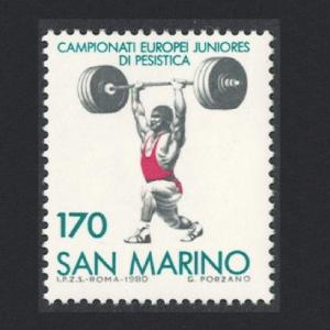 San Marino European Junior Weightlifting Championship SG#1152
