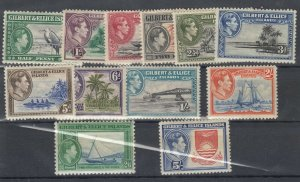 Gilbert & Ellice Islands KGVI 1939 Set To 5/- SG43/54 MH/MNH (High Values) J7609
