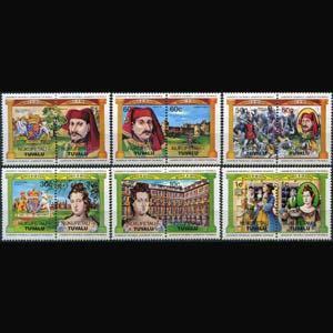 TUVALU-NUKUFETAU 1984 - Scott# 14-9 Monarchs Set of 12 NH