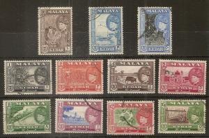 Kedah 1957 Badishah Set SG92-102 Fine Used Cat£140